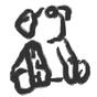 リッキー : Painted By U:『Dear』のトップ画像でお馴染みの U さんが、描いてくれた知る人ぞ知るリッキーのイラスト。<br />ゲロかわ。